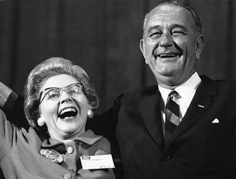 Harriet Miller and Lyndon B. Johnson