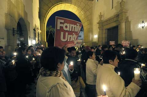 PUEBLO Action Fund held a vigil calling for immigration reform at the Santa Barbara 
