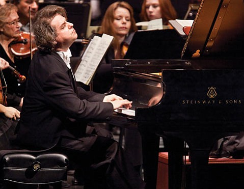 Alain Lefevre performing with the Santa Barbara Symphony at the Granada Theatre.