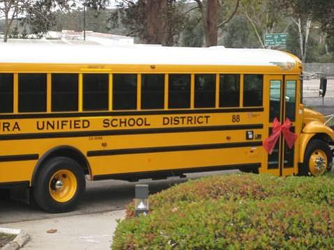 Ventura School District's new plug-in hybrid electric school bus.