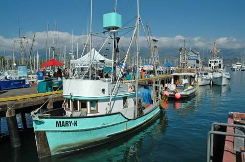 The Santa Barbara Harbor