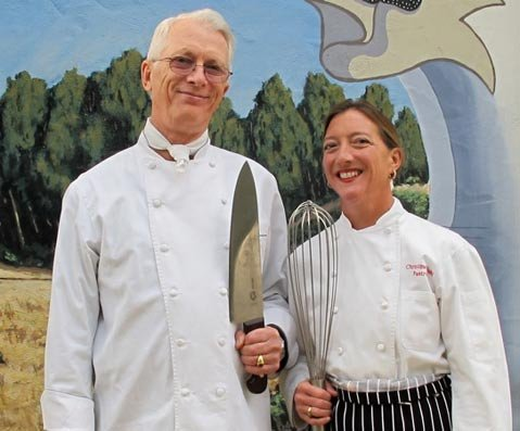 Chefs Michael Hutchings and Christine Dahl.
