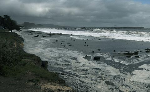 Goleta Beach during some winter waves in early 2010