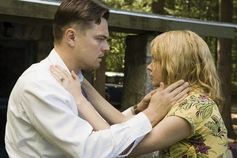 Leonardo DiCaprio as U.S. Marshal Teddy Daniels and Michelle Williams as Dolores Chanel in Martin Scorsese's trippy thriller <em>Shutter Island</em>.