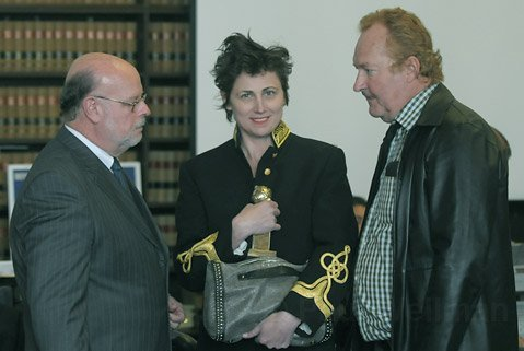 Mar. 1, 2010 Robert Sanger with Evi and Randy Quaid in Santa Barbara's Superior Courthouse