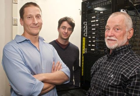 Members of UCSB's Computer Security Group (from left to right): Giovanni Vigna, Christopher Kruegel, and Richard Kemmerer