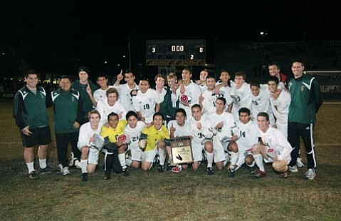 Santa Barbara High School Boy's Soccer CIF champions after a 3-0 victory over the Dos Pueblos Chargers Mar. 5, 2010