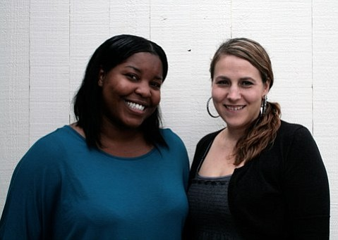 Tamera Richardson (left), pictured here with Transitional Living Center Supervisor Shannon Bell, is one of a number of former foster youth in the area who stand to lose county-offered housing and support if the THP-Plus program is eliminated.