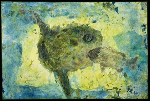 """Sunfish and Tahitian Reef Fish"" by Craig Rudholm"