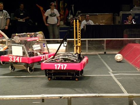 Team 1717's robot in action