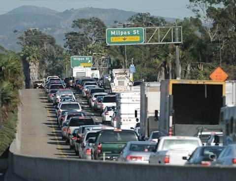 5:00 p.m. traffic on the 101