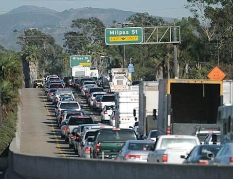 5:00 p.m. traffic on the 101