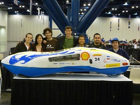 UCSB's team and its Gaucho IV