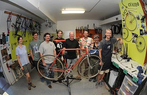 The bicycle collective Bici Centro offers inexpensive parts, expertise, and a welcoming environment to people who don't know much about the two-wheeled transports.