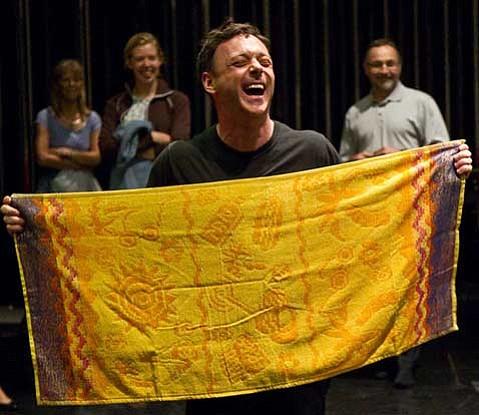 "Choreographer Larry Keigwin directs more than 50 community members in ""Bolero Santa Barbara."""