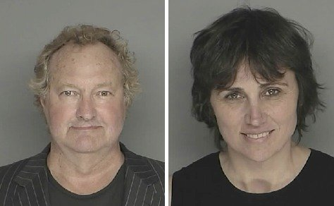 Mug shots of Randy and Evi Quaid when they were arrested in 2009 for the San Ysidro Ranch incident.