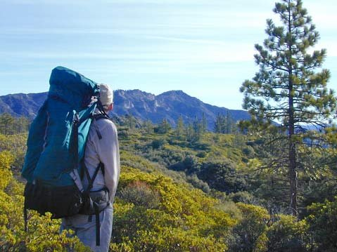 <strong>A CONDOR'S VIEW:</strong>  The air is crisp and cold near Big Pine Mountain in the Santa Barbara backcountry, where the author's friend Roy enjoys views of the landscape that the proposed Condor Trail would connect.