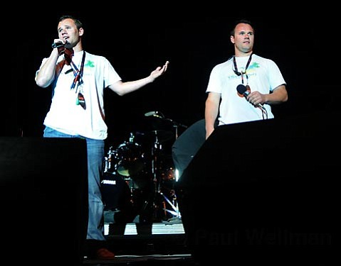The Pemberton brothers at the 2008 West Beach Music and Arts Festival