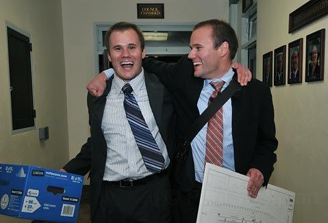 Twin brothers Jeremy and Joshua Pemberton.