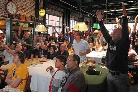 World Cup action at Dargans Irish Pub and Restaurant.