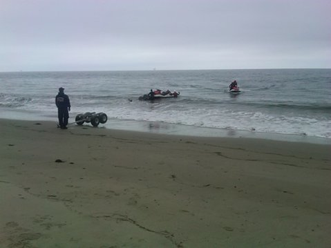 Vandenberg officials search for the missing kayaker