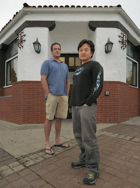 <strong>SHORT-LIVED SHOP?:</strong>  Nat Reinke and James Lee, owners of the Green Well dispensary at Milpas and Haley streets, feel they've been tossed under the bus and run over by the S.B. City Council.