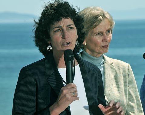 Linda Krop (with Congresswoman Lois Capps)