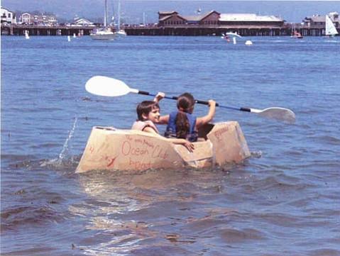The S.B. Maritime Museum's Kardboard Kayak Race