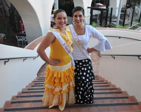 Tatum Ortega Vestal (left) won the Junior title, while Erika Martin del Campo, age 20, was crowned Spirit of Fiesta.