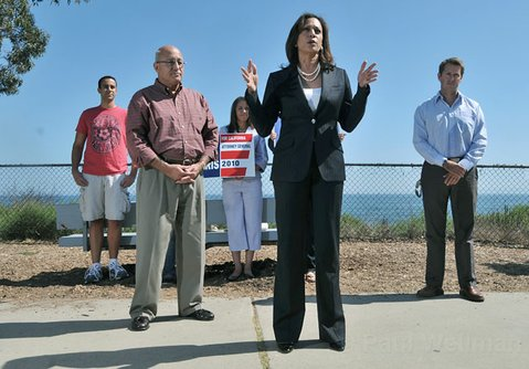 Kamala Harris campaigns in Santa Barbara on Friday, September 10