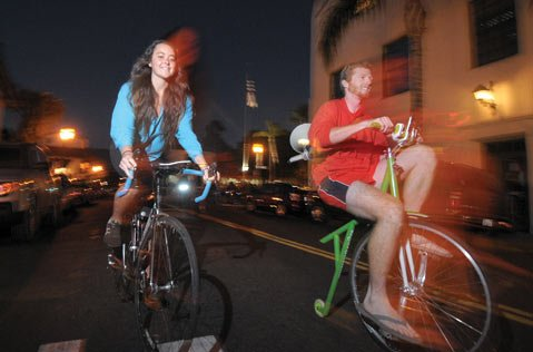 <strong>CYCLING ON THE RISE:</strong>  Seismic shifts are seizing the world of cycling. In Santa Barbara, 42 percent of the population rides recreationally. While the number of people who commute to and from work by bike is much smaller, it has nearly doubled since 2000.