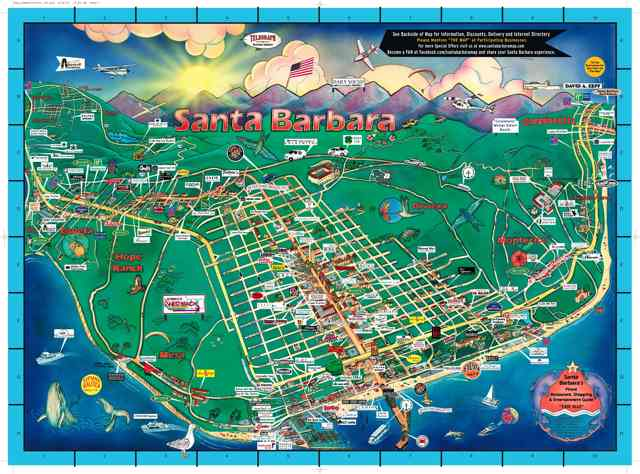 The Map Celebrates 25 Years – Santa Barbara Tourist Map