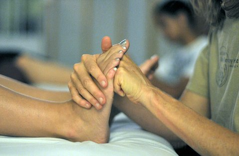 Santa Barbara Body Therapy Institute foot reflexology class, as taught by Katie Mickey.