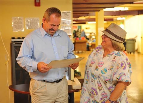 Patrick Herrick with  Casa volunteer Melody.