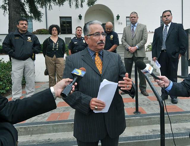 Cam Sanchez speaks during Thursday's press conference
