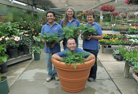 La Sumida's managers (clockwise from top center) Judi Smith, D. Honer, Jamie Myers, and Francisco Perez.