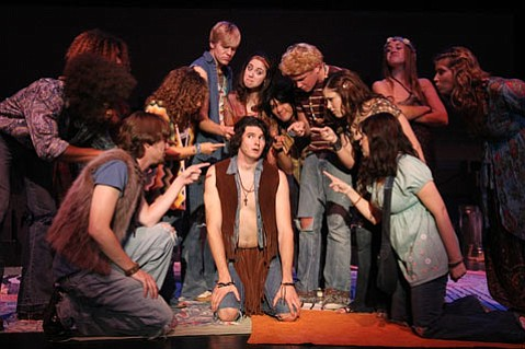 The Tribe gathers in Out of the Box's new production of <em>Hair</em>.