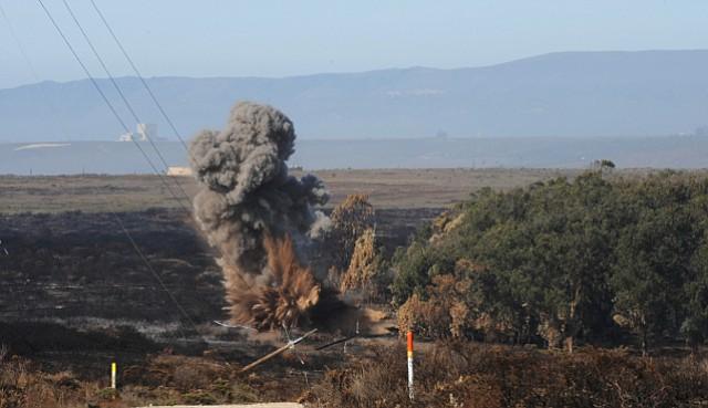 Detonation of bomb found where crews were fighting last week's Bear Creek Fire