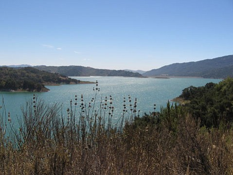 Lake Casitas as seen from a Route 150 pullout.