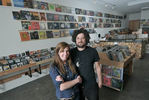 Warbler Records co-owners Leigh van der Werff (left) and Kurt Legler
