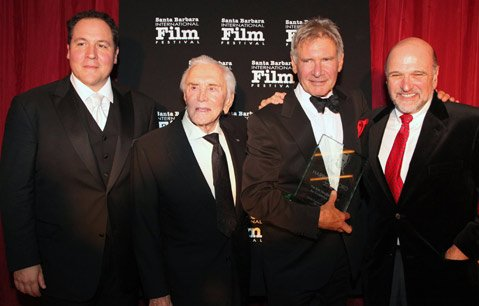Jon Favreau, Kirk Douglas, Harrison Ford, and Andy Davis