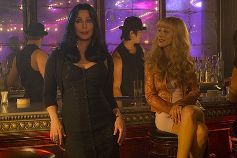<strong>CAN'T-CAN'T:</strong>  Despite their collective song-and-dance chops, Cher and Christina Aguilera are unable to save the Razzie-worthy musical <em>Burlesque</em> from itself.