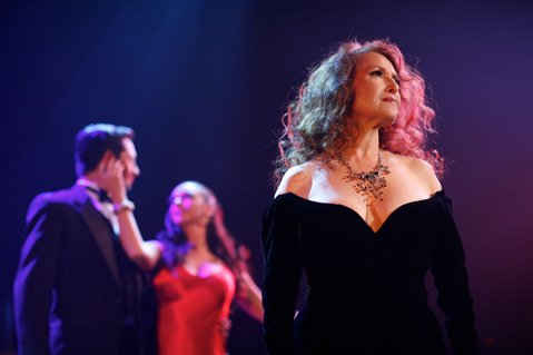 Melissa Manchester (foreground) sings classics and originals as part of Rubicon's ballroom dance extravaganza <em>Fascinating Rhythms</em>.