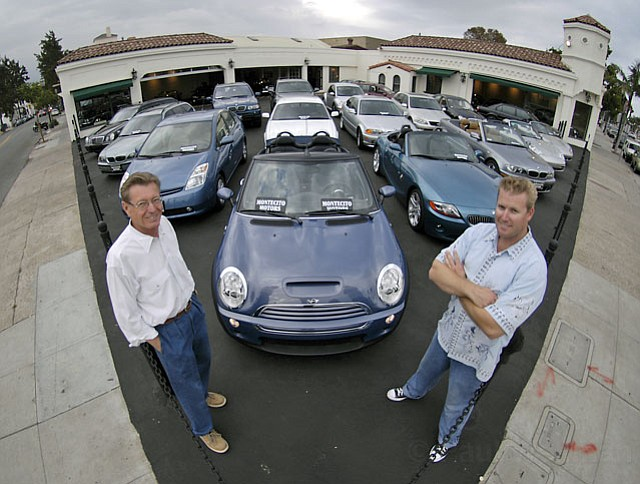 <strong>DENTED REPUTATIONS?:</strong>  Chet Taylor (left) and his son Adam, who ran a high-end used-car lot in downtown Santa Barbara until it suddenly closed in September, have been accused by 29 former customers of selling their cars but failing to pay them as agreed in consignment contracts.
