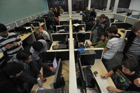 "<strong>HANDS-ON HACKING:</strong>  What sets UCSB's Computer Security Group apart is its focus on hands-on experience to train students on how to be good hackers. ""I give them stuff to break,"" explains professor-of-hacking Giovanni Vigna. ""In security, it's 'Can you break it or not?'"" That's the point of the annual International Capture The Flag competition (pictured), which this year was the world's biggest hacking competition ever."