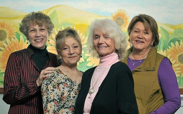 (L to R) Pastor Judy Campbell-Clark, Pamela Bollinger, Luel Hawley-Sedlak, and Margarite Holt