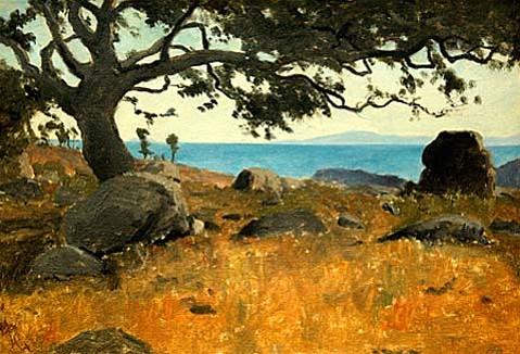 """Lockwood De Forest's """"Santa Barbaras Channel Islands Through Oak""""."""