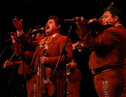 Mariachi Los Camperos de Nati Cano at the Marjorie Luke Theatre, December 2007.