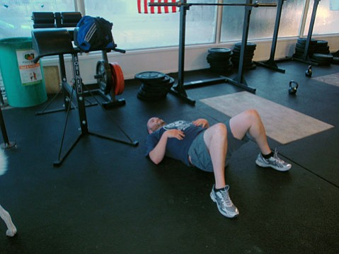 Feeling the effects of the Crossfit workout.