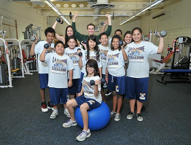 La Cumbre Junior High has 150 kids participating in a Healthy Lifestyles and Fitness Program that includes weight training, exercise, and diet education.